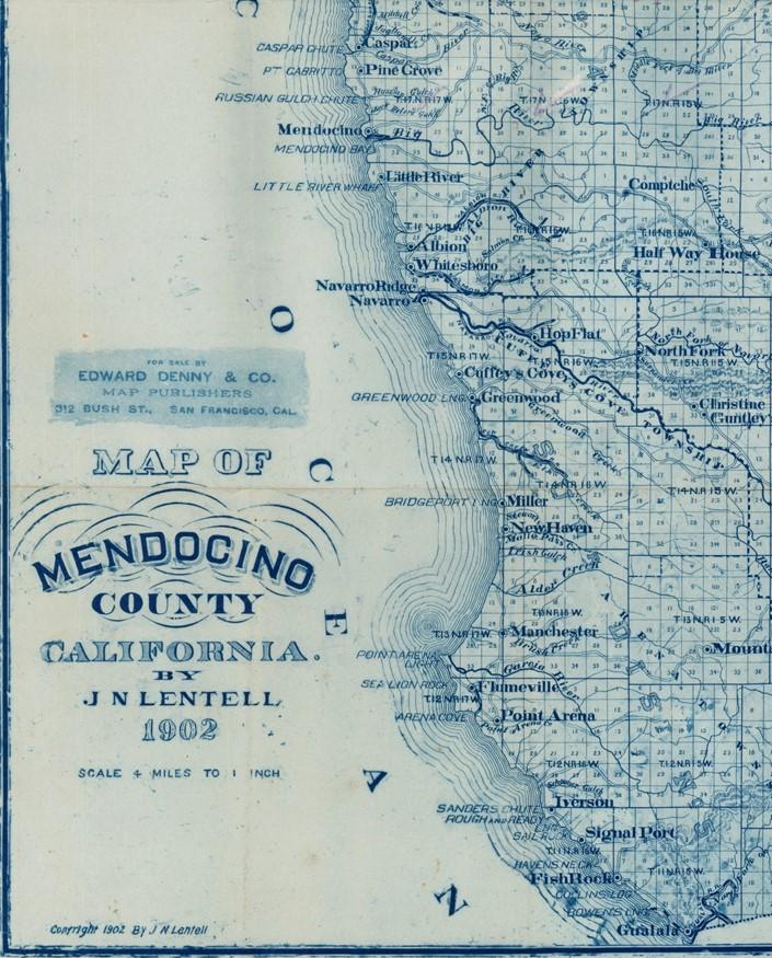 1902 Mendocino County Map